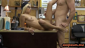 pounded pawnshop the blonde amateur stripper at busty Fucking while wand orgasm