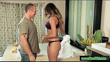 wife massage giving stranger Brianna banks smokes a cig