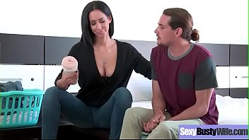 wife drilled big son 1 by boobs Big breasted housewife and her husband create an amateur porno