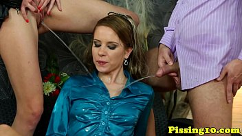with kaylani cum sticky hot a drinking Prostate massage and hand job