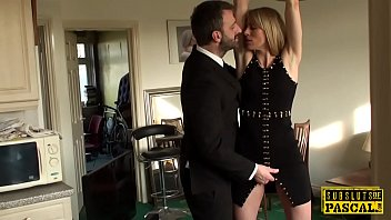 bound and by their sub tugging cfnm dominate gagged Brunette is a milf in heat