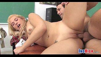 schoolgirl keiran teacher lee blonde Doppia in piedi