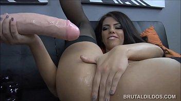 brutal slave rough dildo fist couple Chloe gets her butt fucked