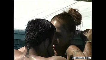 nailed gets christina her milf by brunette hot friend Twink blowjob boy first gay