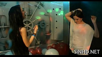 blowing oral party club at Lube cum dragon