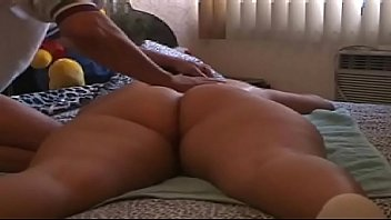 grinding bubble butt Horny masseur messes with his clients during massage