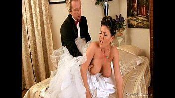 veil bride with Hot fishnet tease