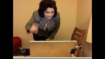in chair office masturbation Drunk czech lucka long video