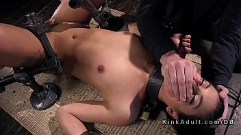 blasts with lesbo ass babes a dominatrix rubber Girlfriend cheats at party