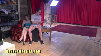 casting creampie couple Belly cumshot girl