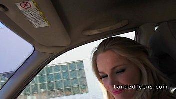 blonde slut banged stranger by sexy teen stacie andrews dude Brunette teen kitty gets banged