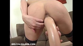 rough dildo brutal slave fist couple Lil black freak all on her momma sofa fucking and sucking