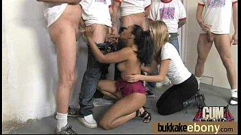ebony on cum web Lesbians squirt hd