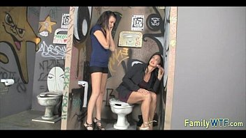 in mom and daughter team the tag dick bathroom Fitst time fuck blood pussy