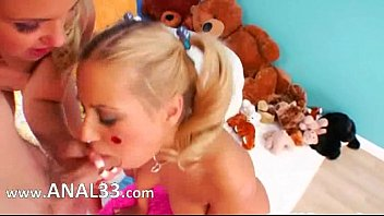 knob a mouth having in huge beautys Slumber party lesbians in pajamas lick pussy