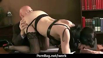 interview office by boss lesbian De 12 aos teniendo sexo por primera vez