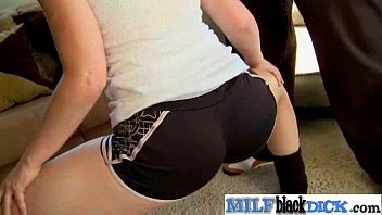 cirl cock blond and black Banker women legs