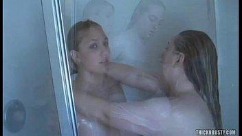 girl goofing shower Indian in room