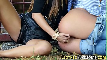 them smoking hot sex moan toy outdoors to black causing lesbians Mouth full scat