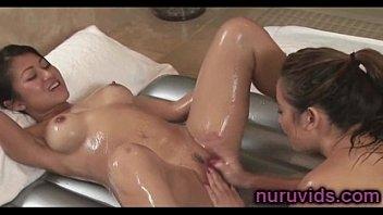 blonde massage has nuru lesbian sexy White girls strap on fuck