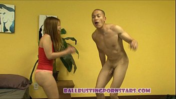 ballbusting by asian5 Homemade anal submissive ffm