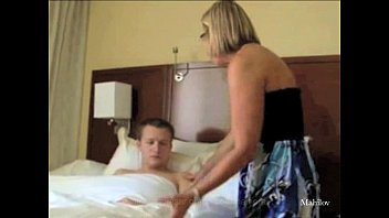 mom length son full Breasty teen toying pussy on stairs