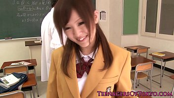 schoolgirl fuck uncensored japanese uniform with Japanese watching porn first time