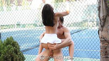 two tennis court on hotties the with Colegials x colegialas