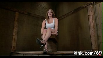 chair nailed and on officeslut beautiful desk 2 shemales double penetrate girl