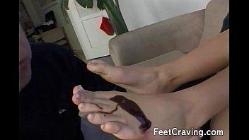nylon feet lick Exotic slut loves the rough grinding2
