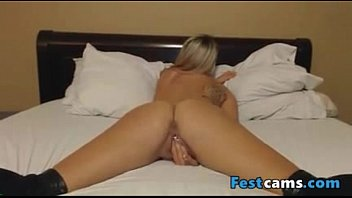 masturbating with blonde jerking while vibrator guy Teaches wife a lesson anal