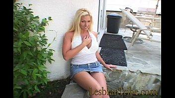 lesbian facesitting blonde Asian street booth