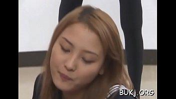 teacher jap gangbang Cock in her nose