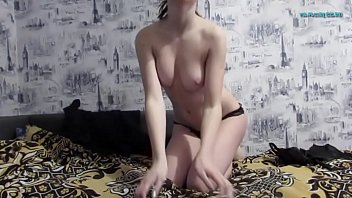 girl masturbating porn watching Homemade camera spy on