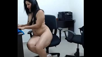 saleswoman office latina Petite chick stretched by bbc