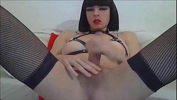 mirror tranny masturbation Masturbating with deodorant tube