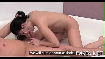 tu manches leche dame no ay Asian chick gives blowjob and titfuck