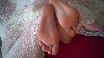 cum feet femdom Blonde asian swimsuit