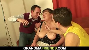 granny inserts bottle Blond dutch amateur homemade