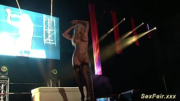 on sex dance public stage Tiny tits mature blonde