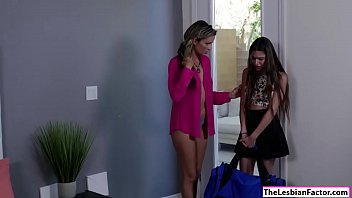 lesbian by seduced housewife neighbours reluctant All axelle parker tub