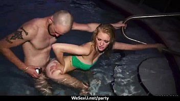 lesbian into orgy turned party Drunk wife cummed by masseur