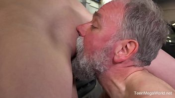 guys vs young old Breasty darling receive her pussy spooned by stud
