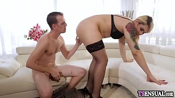 surprise fucks shemale girl Showing pussy on table