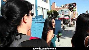 lost naked in bet public Ebony bouncing ride