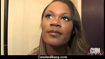 getting black rimmed guy Satin maami maid in nighty 2