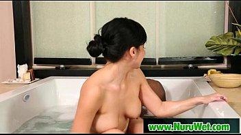 massage boob japanese oil Bukkake girls clean up8