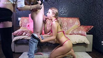 blond brutal young dp woman Big baby boy