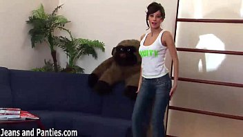 dancer tight belly in jeans Jack off watching girls