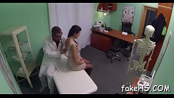 ebony annoying patient her face on doctor s sits chubby Two matures mouth cum
